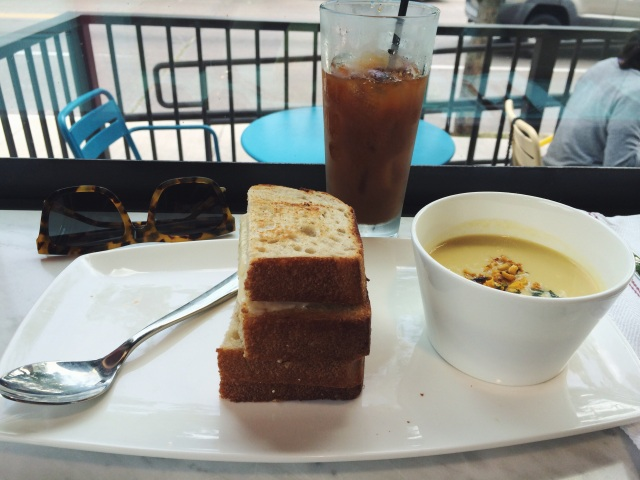 grilled cheese and sweet corn chowder