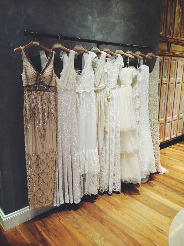 wedding dresses at BHLDN
