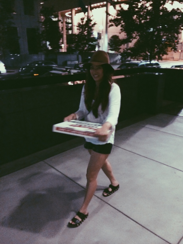 excited for pizza