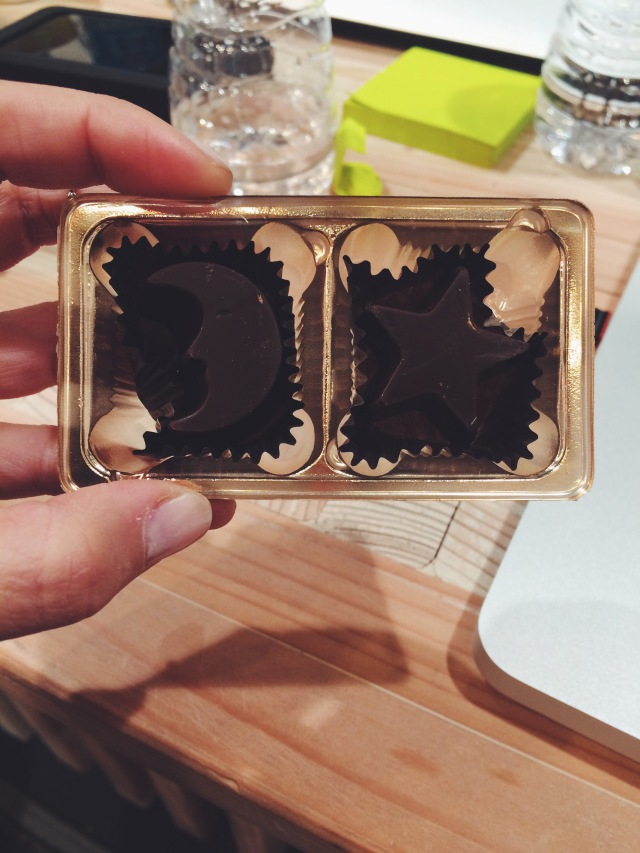 post show chocolates