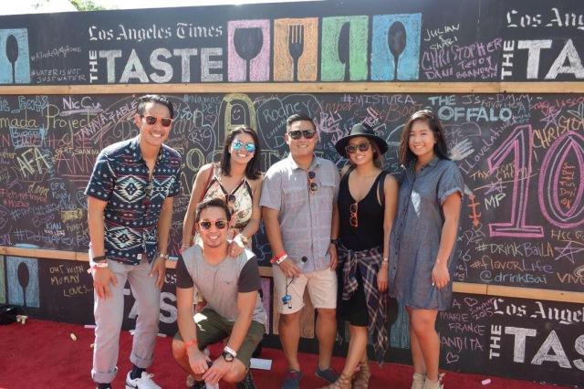 Taste LA chalkboard