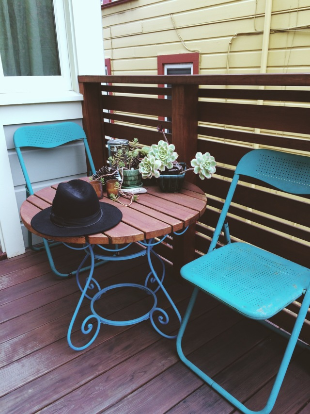 Airbnb porch seating