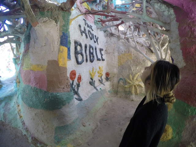 Salvation Mountain art piece